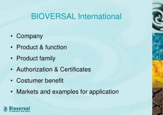 BIOVERSAL International