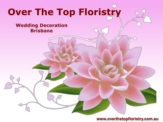 Wedding Decorator in Brisbane