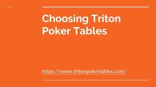 Triton Poker Tables - Premium Folding Table