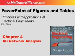 PowerPoint of Figures and Tables Principles and Applications of Electrical Engineering Fifth Edition