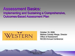 Assessment Basics: Implementing and Sustaining a Comprehensive, Outcomes-Based Assessment Plan
