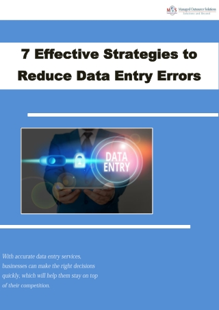 7 Effective Strategies to Reduce Data Entry Errors