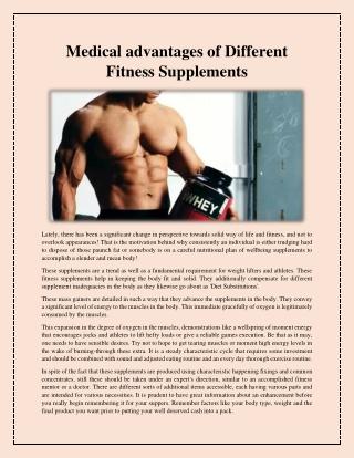 Afforable premium quality supplements