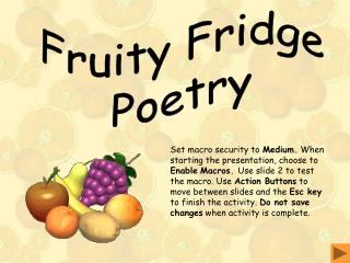 Fruity Fridge Poetry