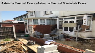 Asbestos Removal Essex - Asbestos Removal Specialists Essex