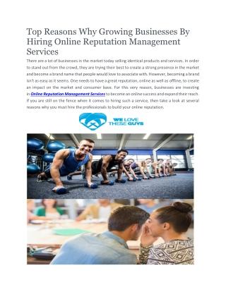 Reputation Management Company | Welovetheseguys.com