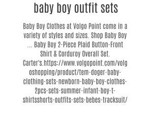 baby boy outfit sets