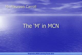 Ms Maureen Carroll