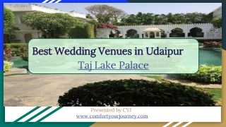 Resorts for Weekend Getaways in Udaipur   Taj Lake Palace Udaipur