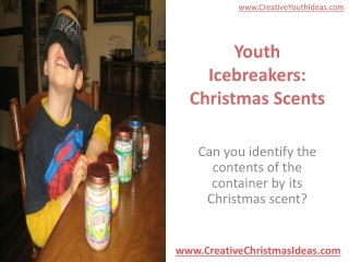 Youth Icebreakers: Christmas Scents