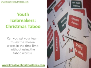 Youth Icebreakers: Christmas Taboo