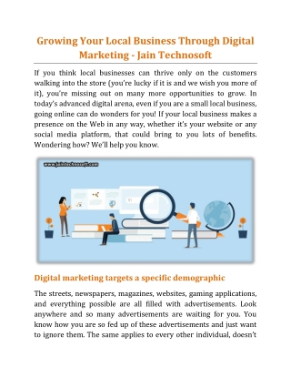 Growing Your Business – 4 Effective Marketing Research Tips - Jain Technosoft