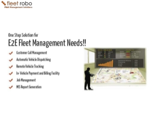 Fleet Robo-Fleet Management Solutions with GPS Vehicle Track
