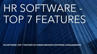 How to choose an Appropriate Human Resource Software – A Study by 360Quardants