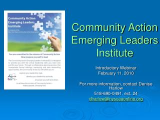 Community Action Emerging Leaders Institute