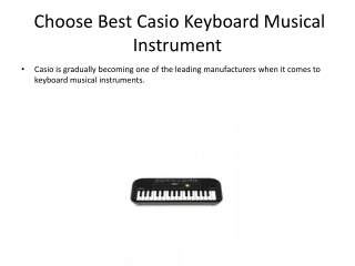 Choose Best Casio Keyboard Musical Instrument