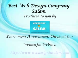 best Web Design company Salem