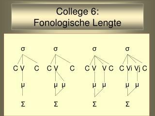 College 6: Fonologische Lengte