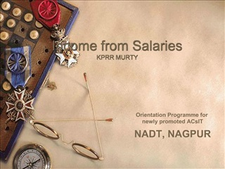 Income from Salaries KPRR MURTY