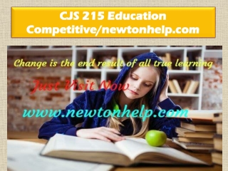 CJS 215 Education Competitive/newtonhelp.com