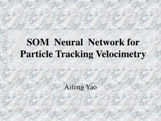 SOM Neural Network for Particle Tracking Velocimetry