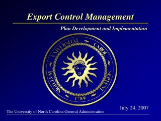 Export Control Management