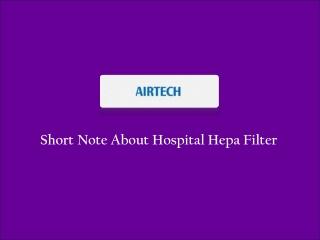 Hospital Hepa Filter Manufacturer