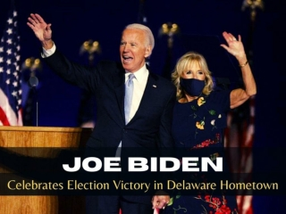 Joe Biden celebrates election victory in Delaware hometown
