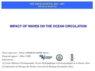 IMPACT OF WAVES ON THE OCEAN CIRCULATION