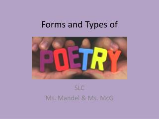 Forms and Types of