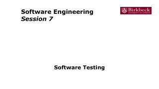 Software Quality Assurance BlACK BOX cont.