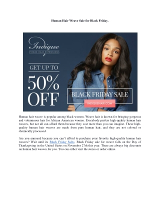 Human Hair Weave Sale for Black Friday.
