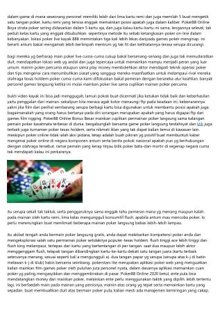 Mendirikan Keberhasilan Atas Main Poker88 Online Android