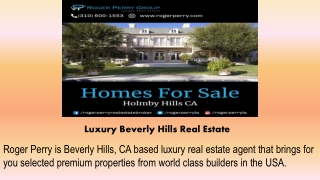 Luxury Beverly Hills Real Estate