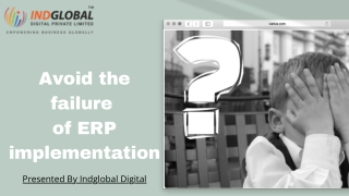 Avoid the failure of ERP implementation