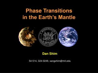 Phase Transitions in the Earth s Mantle