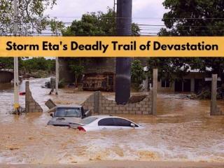 Storm Eta's deadly trail of devastation