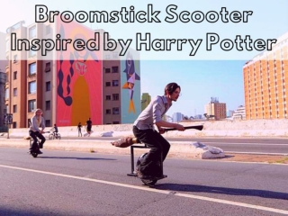 Broomstick scooter inspired by Harry Potter