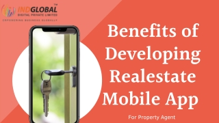 Benefits of developing Real estate Mobile app