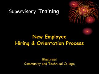 Supervisory  	Training