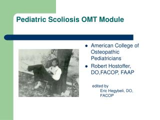 Pediatric Scoliosis OMT Module