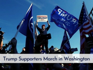 Trump supporters march in Washington