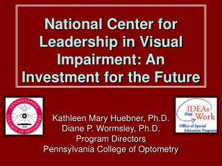 National Center for Leadership in Visual Impairment: An Investment for the Future