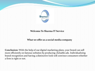 What we offer as a social media company