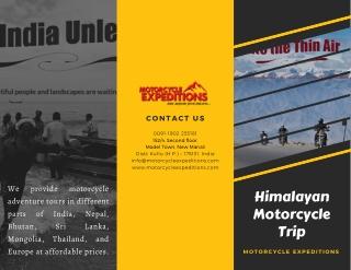 Best Himalayan Motorcycle Trip