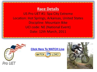 Watch US Pro UET #1: Spa City Extreme Live Streaming Via Onl