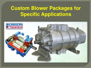 Custom Blower Packages for Specific Applications