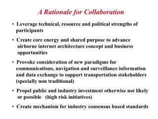 A Rationale for Collaboration