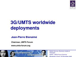 3G/UMTS worldwide deployments