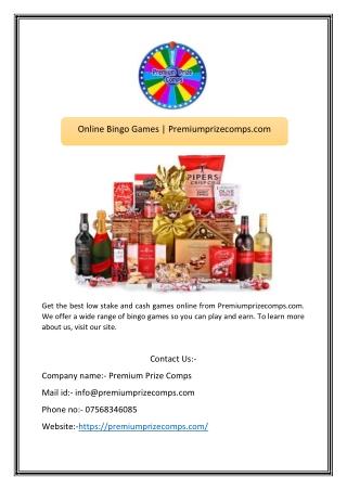 Online Bingo Games | Premiumprizecomps.com